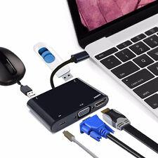 5 IN 1 THUNDERBOLT USB 3.0 TIPO C A HDMI VGA ADATTATORE HUB CAVO PER MACBOOK PRO