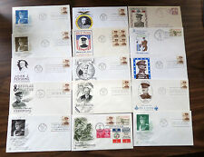 15 DIFFERENT GENERAL PERSHING FDC COLLECTION 1932 FANCY CANCEL PERSHING, IND.