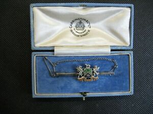 COMMEMORATIVE WORSHIPFUL COMPANY OF CLOTHWORKERS SILVER BROOCH GEORGE V JUBILEE