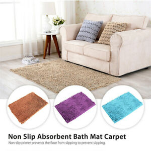 Bathroom Shower Rug Non Slip Absorbent Bath Mat Microfiber Floor Shower Rugs Mat