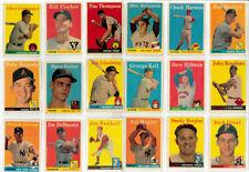 1958 Topps MLB Baseball Cards   Pick your card