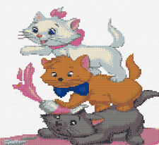 Aristocat Kittens 2 Counted Cross Stitch Kit Disney/Animals/Film characters