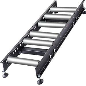 VEVOR Gravity Conveyor Roller w/ 1.5'' Galvanized Steel Roller 3' Long 14'' Wide