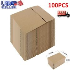 100 7x5x3 Corrugated Moving Box Packaging Boxes Cardboard Packing Shipping
