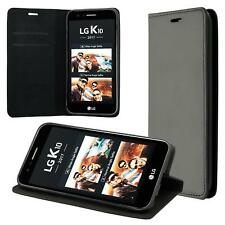 Custodia per LG K10 (2017) Cover Case Portafoglio Wallet Etui Nero