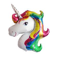 NEW Small Supershape Party  Rainbow Unicorn Head Foil Balloon Children Birthday