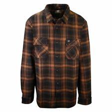 Harley-Davdson Men's Black Brown Plaid L/S Woven Shirt (S43)