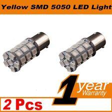 2 X 12V BA15S 27 LED 5050 AMBER INDICATOR TURN SIGNAL CAR UTE LIGHT BULB GLOBE