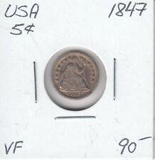 USA 5 CENTS 1847 - VF
