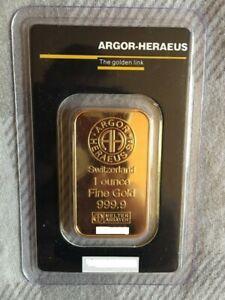 Lingot d'or - Gold Plated 24k - Argor Heraeus - Neuf