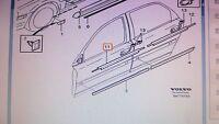 Genuine Volvo S80 Left Front Window Belt Moulding OE OEM 8643196