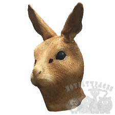 Latex Animal Head Woodland Brown Rabbit Hare Fancy Dress Stag Up Hen Party Masks