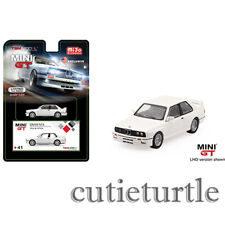 Mini GT USA Exclusive Bmw M3 E30 1:64 Diecast Model Car White MGT00041