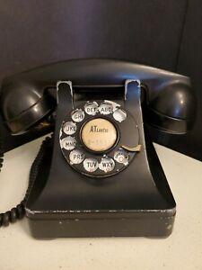 Vintage 1946 Atlantic Bell Western Electric 302 H1 Black Telephone F1 Receiver
