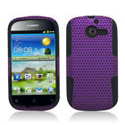 For Huawei Ascend Y H866C MESH Hybrid Silicone Rubber Skin Case Cover Purple