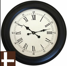 Oversize Large Black Station Roman Numeral Wall Clock 60cm