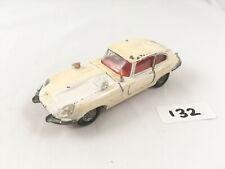 VINTAGE DINKY TOYS #131 JAGUAR E-TYPE 2+2 ORIGINAL DIECAST SPORTS CAR 1968 WHITE