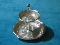 Vintage Ikora Germany Silver Plate 2 Tier Serving Tray Cake Stand Free UK P&P