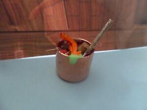 Witch's Copper Cauldron 1:12 scale Dollhouse Miniatures