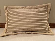 EUC 2 King Size Custom Made Luxury Linen Cotton Blend Pillow Shams