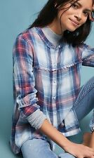 NWT in Bag 98$ Anthropologie oversized Plaid swing Tunic XS-Fast Shipping