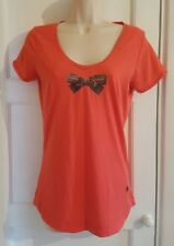 G STAR RAW LADIES MEDIUM ORANGE SHORT SLEEVE T SHIRT A1