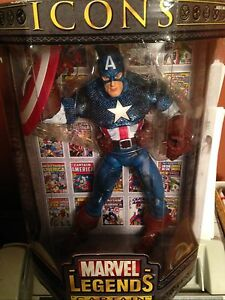 MARVEL LEGENDS ICONS SPIDER-MAN, CAPTAIN AMERICA AND HULK FIGURES