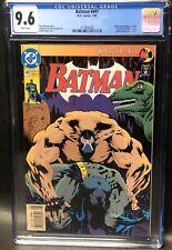 Batman #497 DC Comics Newsstand Variant 1st Printing CGC Graded 9.6 1993 Bane
