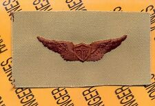 US Army Pilot Aviation Flight desert DCU badge cloth patch Full Shield