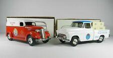Ertl Tip-Up Town Truck Banks Lot - 1955 Pickup Truck & 1938 Panel Truck 1:25