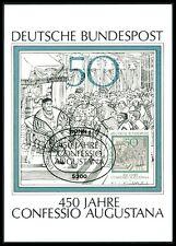 RFA MK 1980 Confessio Augustana Martin Luther lutero Maximum Card MC cm h1229