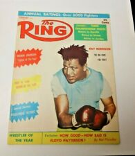 THE RING FEB 1959 RAY ROBINSON COVER BOXING MAGAZINE RARE COOL GOOD CONDITION