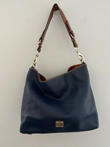 Dooney & Bourke Blue Pebble Grain Extra Large Courtney Sac Shoulder Bag