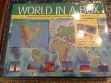 World In a Box - Brand New / Sealed - Create & print your own maps of the world