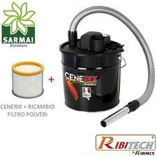 Cenerix Bidone aspiracenere 1200W 18 Lt per camino stufa pellet aspira cenere