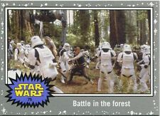 Star Wars JTTFA Silver Parallel Base Card #75 Battle in the forest