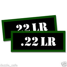 """22 LR Ammo Can 2x Labels for Ammunition Case 3"""" x 1.15"""" stickers decals 2pack"""