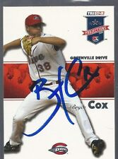 Boston Red Sox BRYCE COX Signed Projections Card