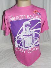 Lady Gaga The Monsters Ball Tour 2009 /10 Mens Medium Pink T Shirt Virgin Mobile