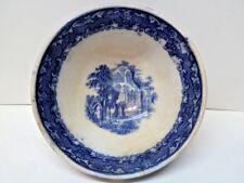 Antique Bowl ABBEY Petrus Regout Maastricht Flow Blue