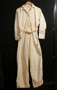 Vintage 40s Carhartt Sanforized USA Made Painters Coveralls Overalls Heart Tag S