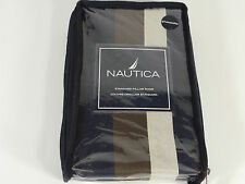 NAUTICA CAPE CHARLES STANDARD PILLOW SHAM QUEEN BEDROOM STRIPED BLUE BROWN NEW