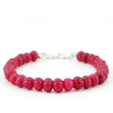 132.90 CTS EARTH MINED RICH RED RUBY ROUND CARVED BEADS BRACELET - LOWEST PRICE