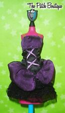 MONSTER HIGH ELISSABAT FRIGHTS CAMERA ACTION DOLL REPLACEMENT BLACK PURPLE DRESS
