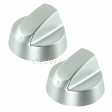 2 x INDESIT CREDA Silver Grey Oven Cooker Hob Control Knob Switch Adaptor + Kit