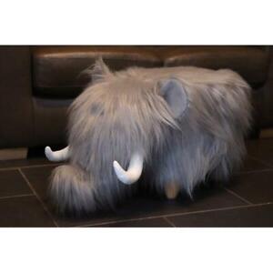 Wooly Mammoth Animal Footstool Pouffe Cushion Rest Seat Sofa Ottoman Plush Chair