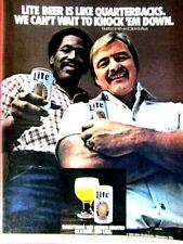 "Dick Butkus Bubba Smith Knock Em Down 1982 Miller Lite Original Ad 8.5 x 11"""