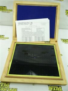 "OPTICAL COMPARATOR GRID MASTER GLASS 8"" X 10"" W/ CASE"