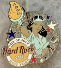 Hard Rock Cafe NEW YORK 2003 July 4th PIN Liberty Girl w/ Torch & Mic HRC #18517