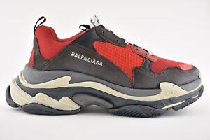 NIB Balenciaga Triple S Black Red Bred Speed Flat Sneaker Trainer 40 Men US 7
